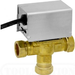 V4073A1039 Mid-Position valve 22 3 port Y plan valve. Honeywell. Motorized Valve.